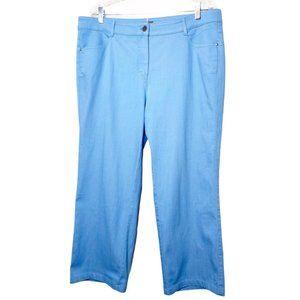 Basler Straight Leg Blue Pants Stretch 5-Pocket 18